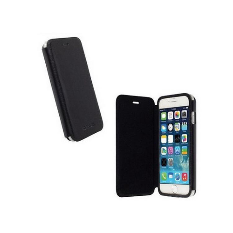 APPLE iPhone 6sKRUSELL FlipCase DONSÖ műanyag védő tok - oldalra nyíló flip cover, mágneses záródás - FEKETE - 75902 - APPLE IPhone 6 - GYÁRI