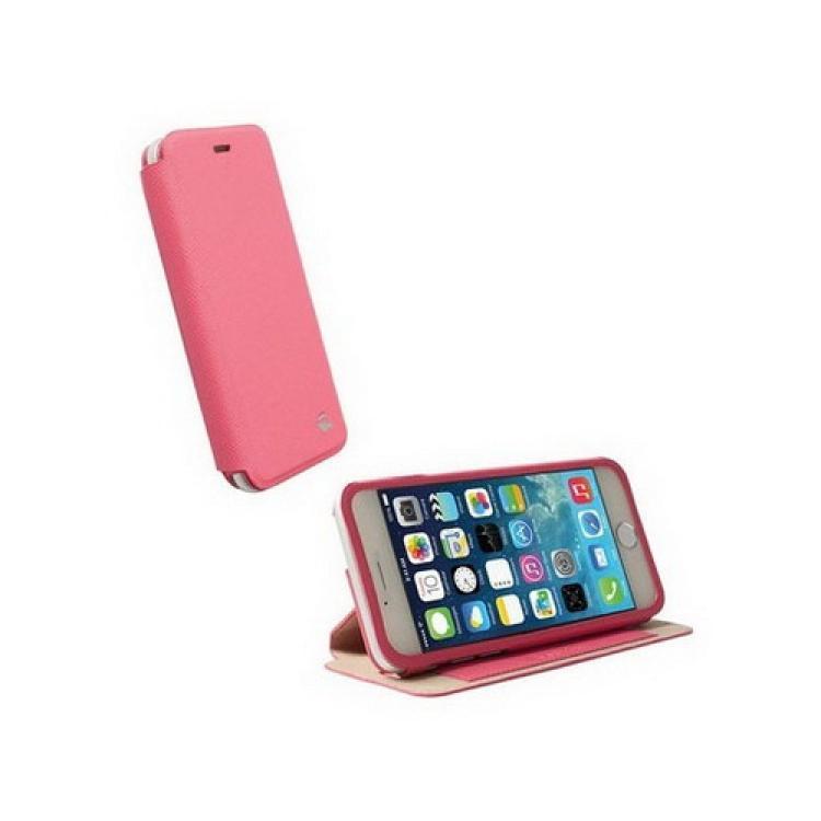 APPLE iPhone 6sKRUSELL FlipCase MALMÖ műanyag védő tok  bőr hátlap - oldalra nyíló flip - 75901 - RÓZSASZÍN - APPLE IPhone 6 - GYÁRI