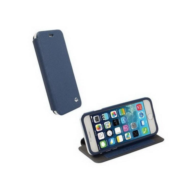 APPLE iPhone 6sKRUSELL FlipCase MALMÖ műanyag védő tok  bőr hátlap - oldalra nyíló flip - 75900 - KÉK - APPLE IPhone 6 - GYÁRI