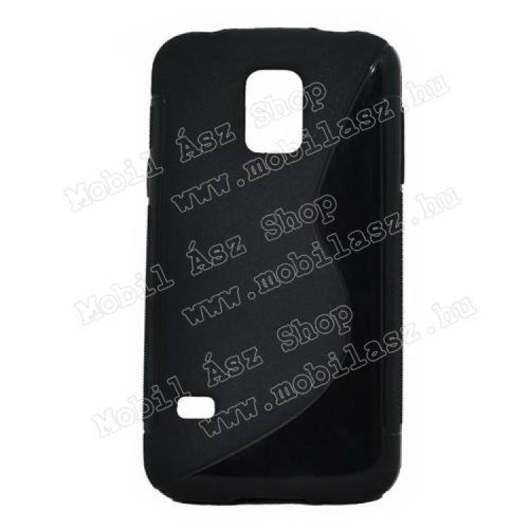 SAMSUNG Galaxy S5 mini (SM-G800)Szilikon védő tok  hátlap - FÉNYES  MATT - FEKETE - SAMSUNG SM-G800 Galaxy S5 mini