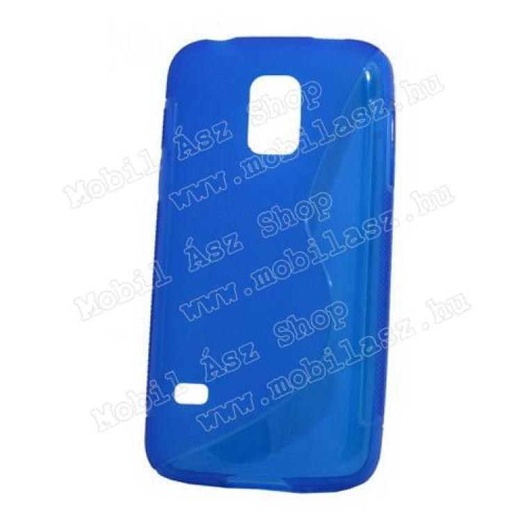 SAMSUNG Galaxy S5 mini (SM-G800)Szilikon védő tok  hátlap - FÉNYES  MATT - KÉK - SAMSUNG SM-G800 Galaxy S5 mini