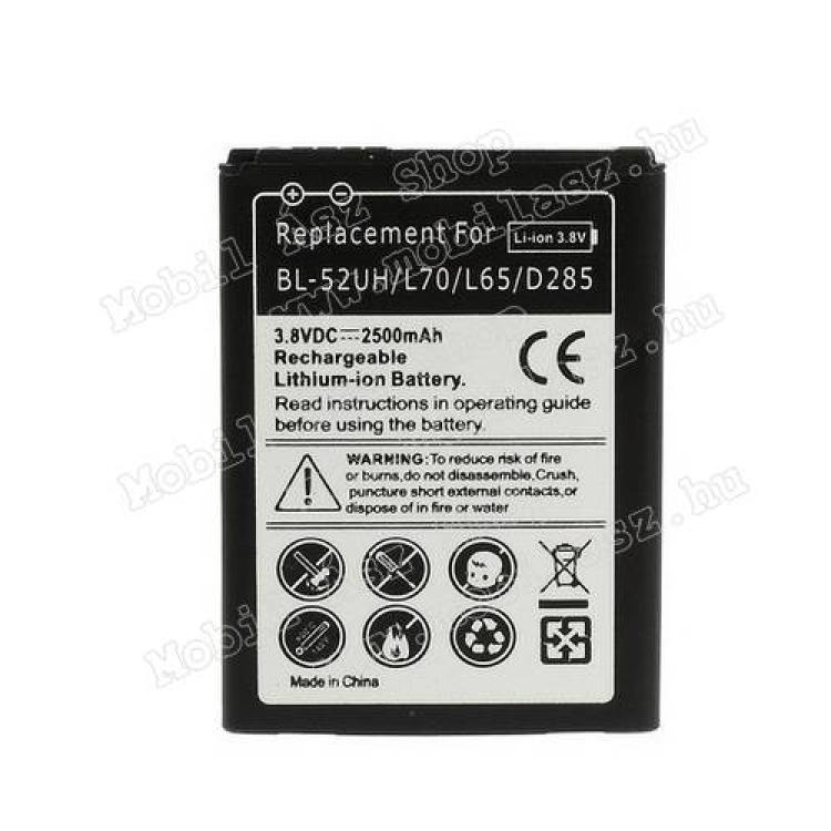 LG SpiritAkku 2200 mAh LI-ION - LG BL-52UH  EAC62258301 kompatibilis - LG L65  LG L70