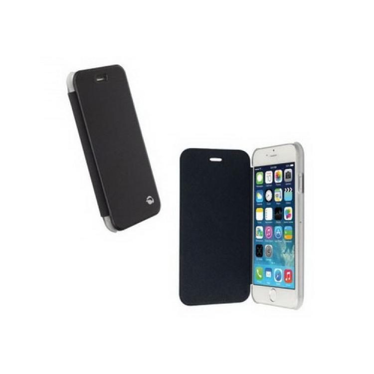 APPLE iPhone 6sKRUSELL FlipCover BODEN műanyag védő tok  átlátszó hátlap - oldalra nyíló bőr flip cover - FEKETE - 75974 - APPLE iPhone 6 - GYÁRI