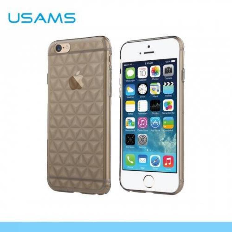 APPLE iPhone 6sUSAMS DIAMOND szilikon védő tok  hátlap - 3D gyémánt mintás - IP6GL01 - SZÜRKE - APPLE iPhone 6 - GYÁRI
