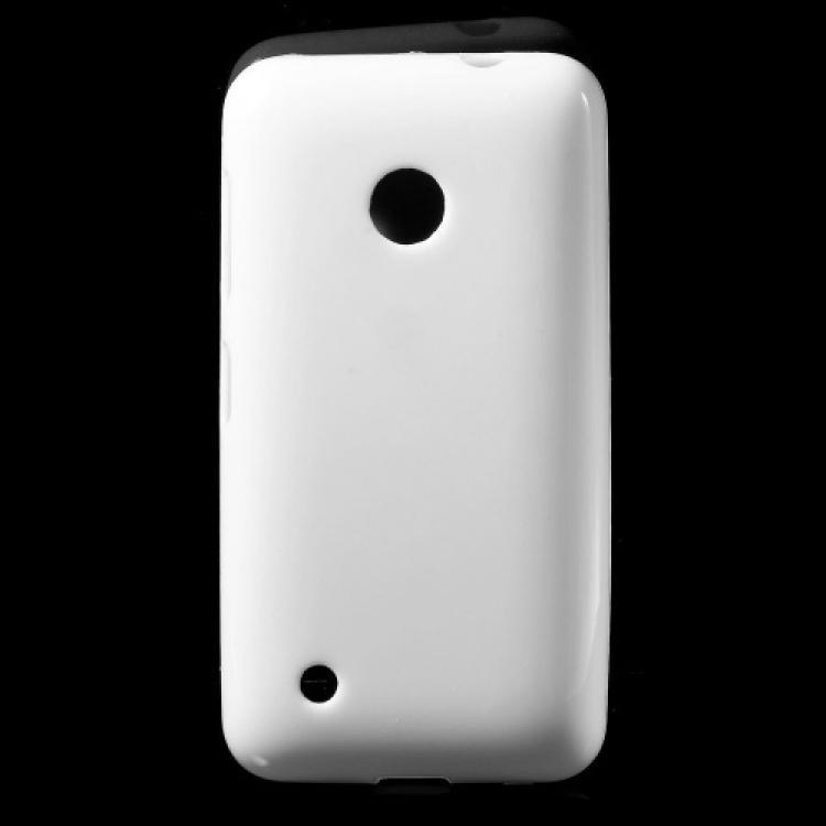 NOKIA Lumia 530 Dual SIMSzilikon védő tok  hátlap - FÉNYES - FEHÉR - NOKIA Lumia 530