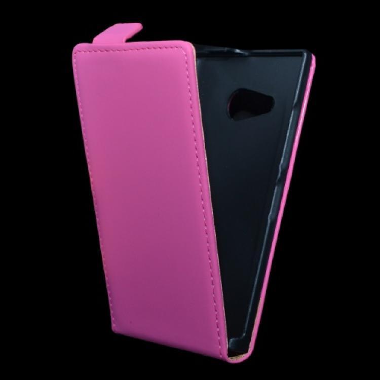 NOKIA Lumia 730 DUAL SIMSLIM FLIP tok - lefelé nyíló, rejtett mágneses záródás - RÓZSASZÍN - NOKIA Lumia 730  NOKIA Lumia 735