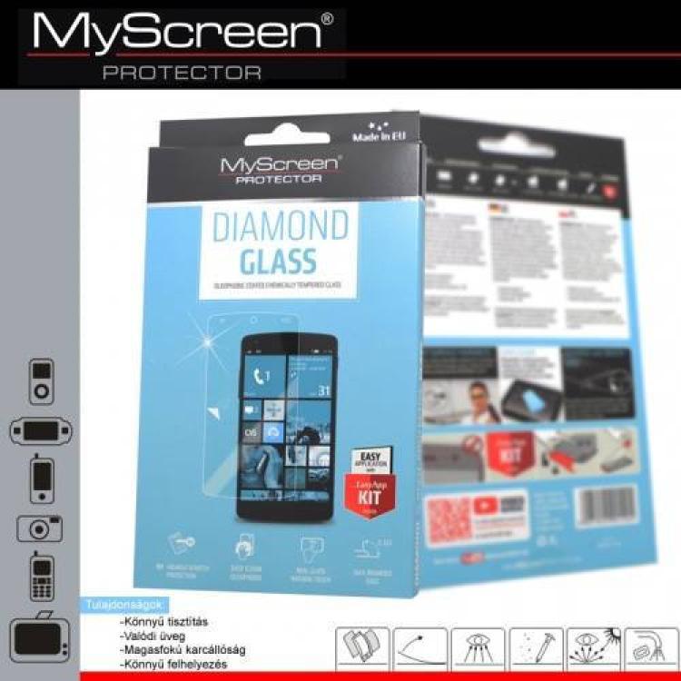 SAMSUNG Galaxy Ace 4 LTE (SM-G357FZ)DIAMOND GLASS előlap védő karcálló edzett üveg - 9H, A képernyő sík részét védi - SAMSUNG SM-G357FZ Galaxy Ace 4 LTE  SAMSUNG SM-G357FZ Galaxy Ace Style LTE