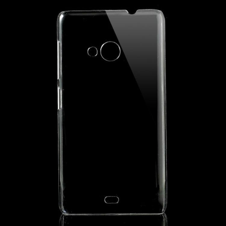 MICROSOFT Lumia 535Műanyag védő tok  hátlap - CRYSTAL HARD CASE - ÁTLÁTSZÓ - MICROSOFT Lumia 535