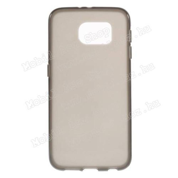 SAMSUNG Galaxy S6 (SM-G920)Szilikon védő tok  hátlap - FLEXI - SZÜRKE - SAMSUNG SM-G920 Galaxy S6