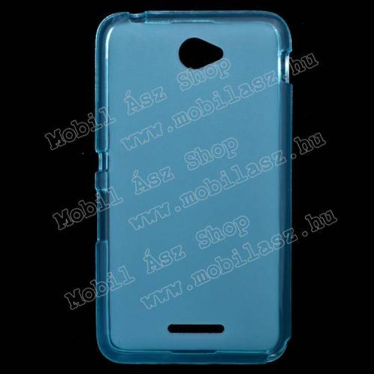 SONY Xperia E4 DualSzilikon védő tok  hátlap - FLEXI - KÉK - SONY Xperia E4 (E2105)  SONY Xperia E4 Dual