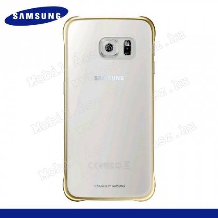 SAMSUNG Galaxy S6 (SM-G920)SAMSUNG EF-QG920BFEGWW műanyag védő tok  hátlap - ÁTLÁTSZÓ  ARANY - SAMSUNG SM-G920 Galaxy S6 - GYÁRI