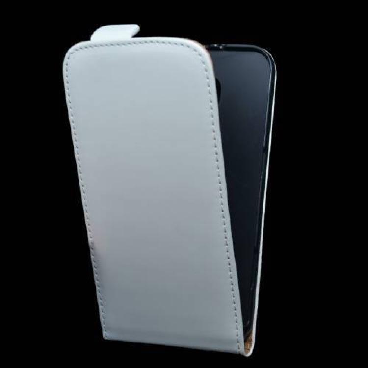 SAMSUNG Galaxy S6 (SM-G920)Flip tok - lefelé nyíló, rejtett mágneses záródás - FEHÉR - SAMSUNG SM-G920 Galaxy S6