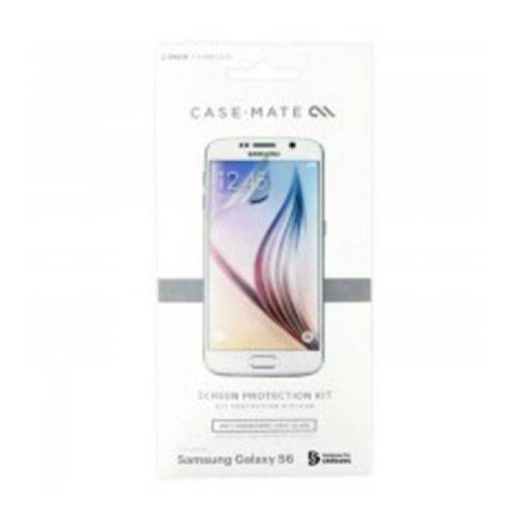 SAMSUNG Galaxy S6 (SM-G920)CASE-MATE képernyővédő fólia - 2 db-os, törlőkendő - CM032410 - SAMSUNG SM-G920 Galaxy S6