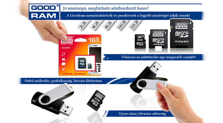 GOODRAM/TOSHIBA memória kártyák élettartam garanciával