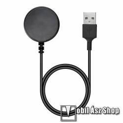 Okosóra USB töltő - FEKETE - 1m,, 5V/0.5A - SAMSUNG Galaxy Watch Active / Watch Active2 40mm / 44mm / Watch4 Classic 46mm / 42mm / Watch4 40mm / 44mm