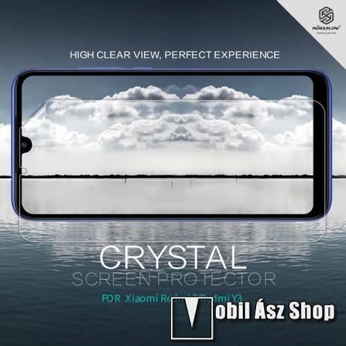 NILLKIN képernyővédő fólia - Crystal Clear - 1db, törlőkendővel, A képernyő sík részét védi! - Xiaomi Redmi 7 / Xiaomi Redmi Y3 - GYÁRI