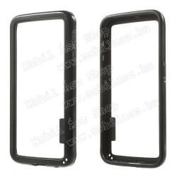 Szilikon védő keret - BUMPER - FEKETE - SAMSUNG SM-G920 Galaxy S6