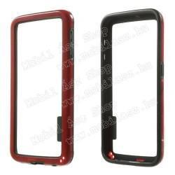 Szilikon védő keret - BUMPER - PIROS / FEKETE - SAMSUNG SM-G920 Galaxy S6