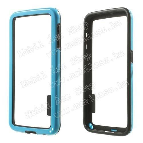 Szilikon védő keret - BUMPER - KÉK / FEKETE - SAMSUNG SM-G920 Galaxy S6