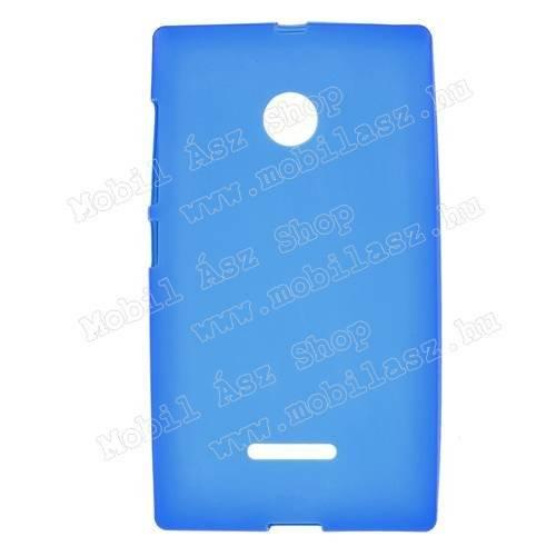 Szilikon védő tok / hátlap - FLEXI - KÉK - MICROSOFT Lumia 435 / Lumia 435 Dual SIM / Lumia 532 / Lumia 532 Dual SIM