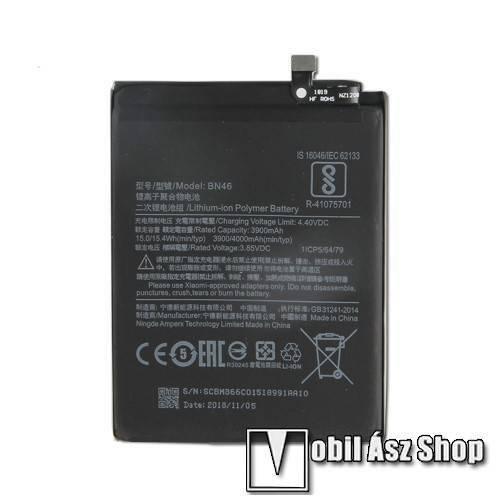 Akku 4000mAh LI-ION (belső akku, beépítése szakértelmet igényel!) - Xiaomi Redmi 7 / Redmi Note 8 / Redmi Note 6 - BN46 - GYÁRI