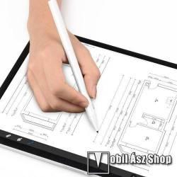 WIWU érintőképernyő ceruza - kapacitív kijelzőkhöz, aktív érzékelő technológia, 110mAh beépített újratölthető akkumulátorral, kézírásra, rajzolásra is alkalmas - FEHÉR - GYÁRI