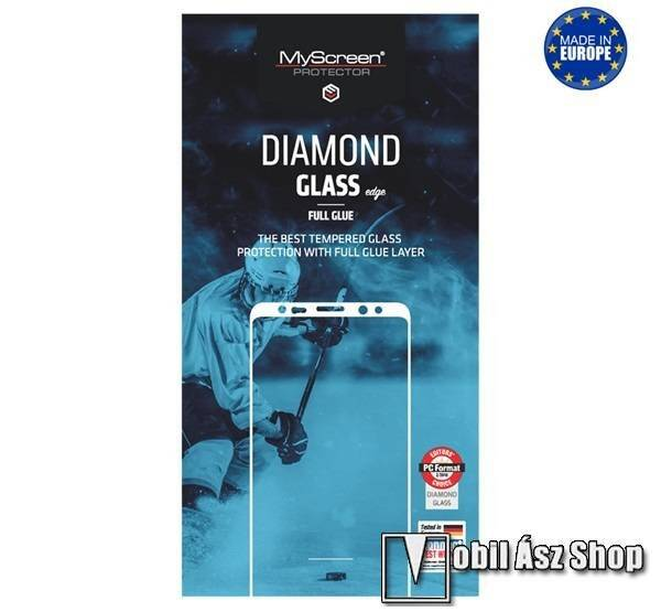 MYSCREEN DIAMOND GLASS EDGE előlap védő karcálló edzett üveg - FEKETE - 9H, 0.33 mm, 2.5D, A teljes felületén tapad! - A TELJES KIJELZŐT VÉDI! - SAMSUNG Galaxy A51 (SM-A515F) / SAMSUNG Galaxy A51 5G (SM-A516F) - GYÁRI