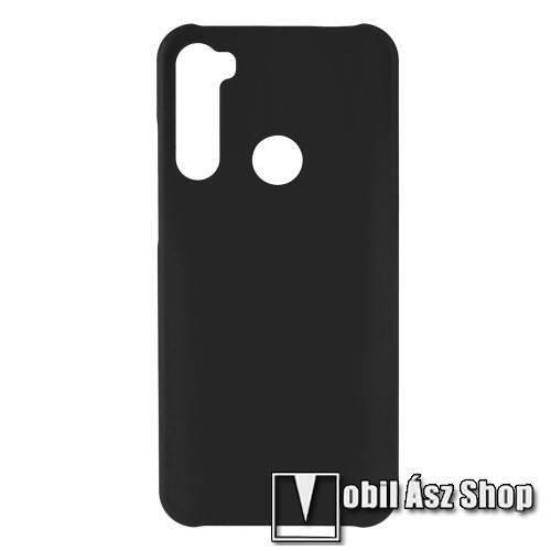 Műanyag védő tok / hátlap - Hybrid Protector - FEKETE - Xiaomi Redmi Note 8T