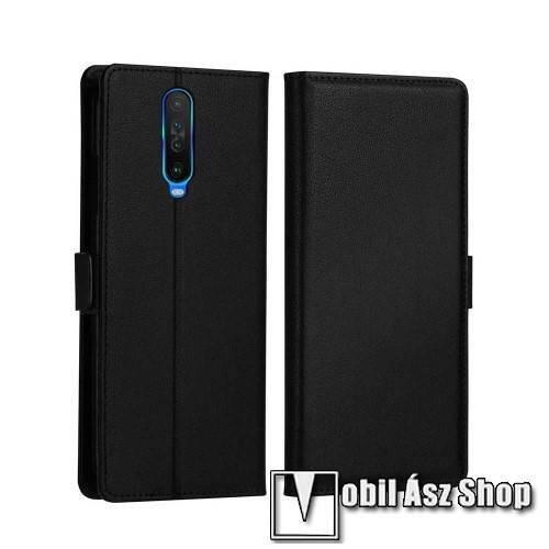 DZGOGO MILO slim design notesz / mappa tok - FEKETE - oldalra nyíló flip cover, asztali tartó funkció, szilikon belső, mágneses záródás - Xiaomi Redmi K30 / Xiaomi Redmi K30 5G / Xiaomi Poco X2 / Redmi K30i 5G - GYÁRI