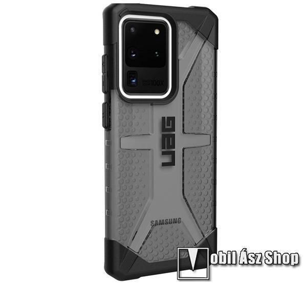 UAG PLASMA műanyag védő tok / hátlap - szilikon betétes, csúszásgátló, légpárnás sarok, ERŐS VÉDELEM! - FEKETE - SAMSUNG Galaxy S20 Ultra (SM-G988F) / SAMSUNG Galaxy S20 Ultra 5G (SM-G988) - GYÁRI