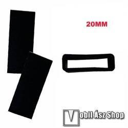 Okosóra szíj bújtató - 1db, szilikon, 20mm széles szíjakhoz - FEKETE