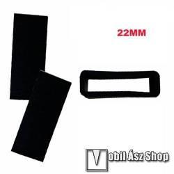 Okosóra szíj bújtató - 1db, szilikon, 22mm széles szíjakhoz - FEKETE
