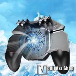 MEMO AK88 UNIVERZÁLIS Kontroller / Joystick - ravasz FPS játékokhoz, gamepad, beépített hűtőventilátor, 67-90mm szélességű készülékekhez haszálható - FEKETE - GYÁRI