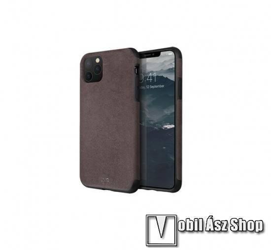 UNIQ Sueve műanyag védőtok / hátlap - SZÜRKE - szövettel bevont hátlap, erősített sarkok, ERŐS VÉDELEM! - APPLE iPhone 11 Pro - GYÁRI
