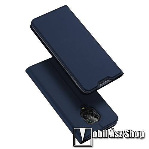 DUX DUCIS Skin Pro Series slim design notesz / mappa tok - SÖTÉTKÉK - oldalra nyíló flip cover, asztali tartó funkció, szilikon belső, mágneses záródás - Xiaomi Redmi Note 9S / 9 Pro / 9 Pro Max / 10 Lite / Poco M2 Pro - GYÁRI