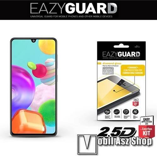 EAZYGUARD előlap védő karcálló edzett üveg - FEKETE - 9H, 2.5D, Arc Edge - A TELJES KIJELZŐT VÉDI! - SAMSUNG Galaxy A41 (SM-A415F) - GYÁRI