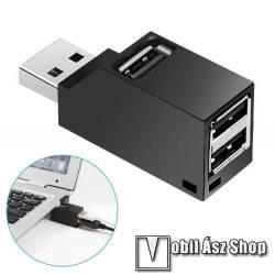 Allview Viva H1001 LTE Mini hordozható 3 portos USB hub / elosztó - USB 2.0 port 480Mbps, méret: 55 x 18 x 24 mm - FEKETE