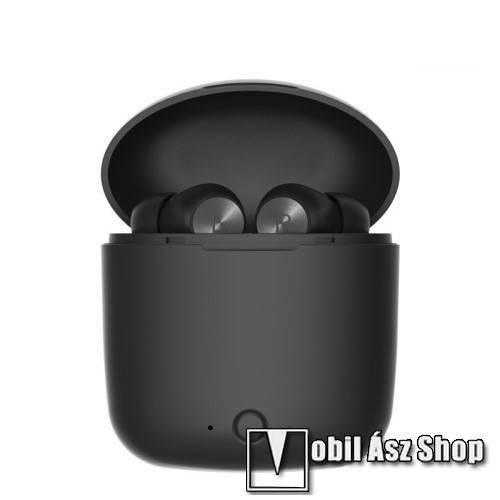 BLUEDIO HI BLUETOOTH fülhallgató SZTEREO - v5.0, TWS, 32Ω, mikrofon, 600mAh töltőtok, zenehallgatáshoz ajánlott - FEKETE - GYÁRI
