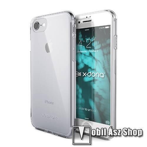 X-Doria Defense 360 Műanyag védő keret / hátlap - 360°-os védelem, műanyag védő keret, két darabból áll + előlap védő edzett üveggel - ÁTLÁTSZÓ - APPLE iPhone SE (2020) / APPLE iPhone 7 / APPLE iPhone 8 - GYÁRI