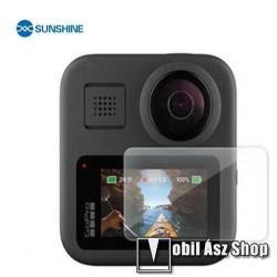 SUNSHINE Hydrogel TPU kameravédő fólia - Ultra Clear, ÖNREGENERÁLÓ! - 1db, a kijelzőt védi - GoPro Hero MAX - GYÁRI