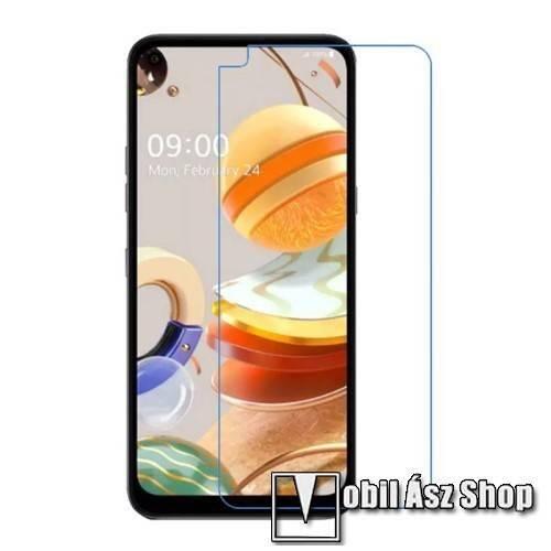 Képernyővédő fólia - Ultra Clear - 1db, törlőkendővel, A képernyő sík részét védi - LG K61 / LG K51S / LG Q61