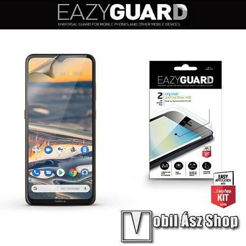 EAZYGUARD képernyővédő fólia - 2 db/csomag (Crystal/Antireflex MATT!) - törlőkendővel, A képernyő sík részét védi - NOKIA 5.3 - GYÁRI