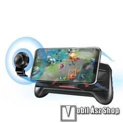 MEMO A-KING UNIVERZÁLIS kontroller / Joystick - ravasz FPS játékokhoz, gamepad, PUBG-hez ajánlott, kitámasztható, analóg, 52-83mm-ig nyíló bölcső - FEKETE - GYÁRI