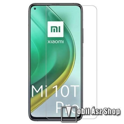 Előlap védő karcálló edzett üveg - 0,33 mm vékony, 9H, Arc Edge, A képernyő sík részét védi - Xiaomi Mi 10T 5G / Mi 10T Pro 5G / Redmi K30S