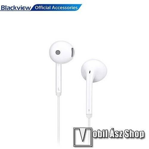 BLACKVIEW SZTEREO HEADSET / James bond - Type-C speciális 10mm-es hosszított fej, mikrofon, felvevőgomb - FEHÉR - GYÁRI