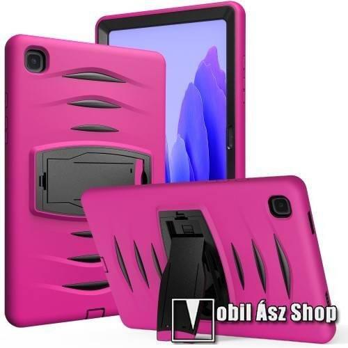 OTT! SHOCKPROOF STAND műanyag védő tok / hátlap - RÓZSASZÍN - szilikon betétes, asztali tartó funkciós, három rétegű, ERŐS VÉDELEM! - SAMSUNG Galaxy Tab A7 10.4 (2020) (SM-T500/SM-T505)
