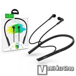 HOCO Mirth ES33 BLUETOOTH SZTEREO sport headset - v5.0, nyakba akasztható, mikrofon, felvevő és hangerő gombok, beépített 95mAh akkumulátor, fülhallgatókábel hossza: 82 cm, 40g, hívási / zenehallgatási idő: 8 óra - FEKETE - GYÁRI