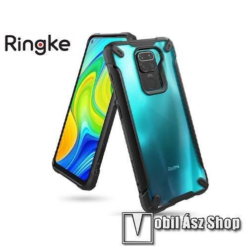 RINGKE Fusion X műanyag védő tok / átlátszó hátlap - FEKETE - szilikon belső, MIL STD 810G-516.6 minősítés, ERŐS VÉDELEM! - Xiaomi Redmi Note 9 / Xiaomi Redmi 10X 4G - GYÁRI