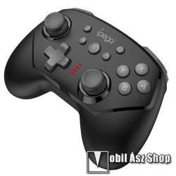 IPEGA 9162B UNIVERZÁLIS Kontroller / Joystick - Bluetooth csatlakozás, Nintendo Switch-el kompatibilis, FPS játékokhoz, gamepad, beépített 380mAh akkumulátor, 8 óra játékidő - FEKETE - GYÁRI