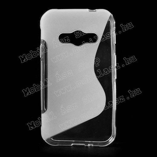 Szilikon védő tok / hátlap - FÉNYES / MATT - ÁTLÁTSZÓ - SAMSUNG SM-G388F Galaxy Xcover 3